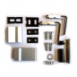 Preview: 1x Door hinge door hinges Anuba Anca Alu 62.5 silver 3D for wood and aluminum doors