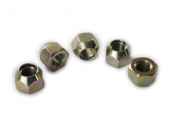 5x wheel nuts conical collar M12 x 1.5 SW19 galvanized