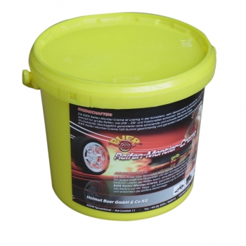 Tyre mounting paste, Tire mounting wax  - bucket à 5 kg - Truck/bus/trailer/agricultural vehicles