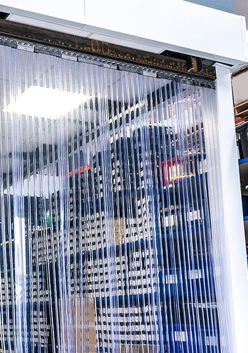 B 2,50m x H1,50m Lamellen PVC Streifen Vorhang 300x3mm