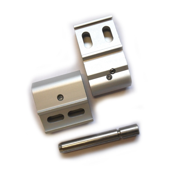 1x Door hinge door hinges Anuba Anca Alu 62.5 silver 3D for wood and aluminum doors